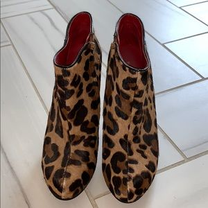 Leopard Bootie Size 6.5